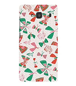 EPICCASE butterflies Mobile Back Case Cover For Mi Redmi 2 Prime (Designer Case)