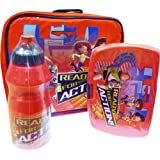 """DISNEY PIXAR TOY STORY """"READY FOR ACTION"""" LUNCH BAG KIT - INCLUDING WATER BOTTLE, SANWICH BOX & LUNCH BAG WITH PVC FRONT & VISIBLE BACK COVER"""