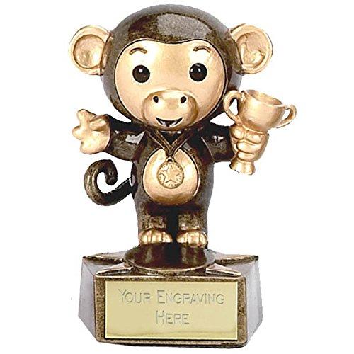 3,5 Monkey3 premio, con incisione personalizzata fino a 30 lettere A1023
