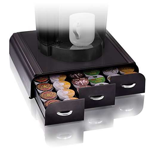 Mind Reader 'Anchor' Triple Drawer single serve coffee pod holder, Black (Keurig Cup Holders compare prices)
