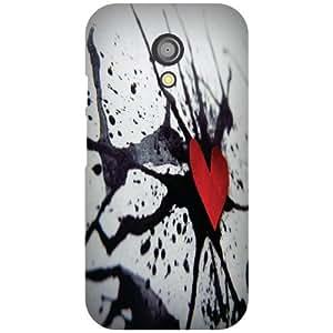 Printland Broken Heart Phone Cover For Motorola Moto G (2nd Gen)