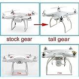 Hobbypower Tall Landing Gear for DJI Phantom 1 2 Vision Quadcopter Wide & High Extend (White)