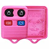 KeylessOption Just the Case Keyless Entry Remote Car Key Fob Shell Replacement - Pink