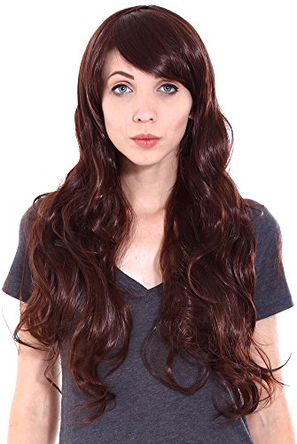 [Simplicity Women Girl Daily Wear Party Hair Long Curly Wigs with Free Wig Cap] (Halloween Costumes Poison Pixie)