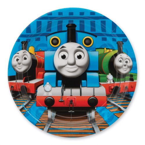 "Thomas The Train Party 7"" Plates - Party Supplies - 8 per Pack - 1"