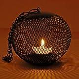 Grehom Tea Light Holder - Cage; Hurricane Candle Holder; Lantern Made Of Metal