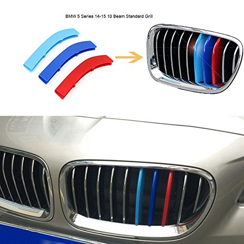 Eastop Dynamics BMW 3/5 series X5X6X3X4X1 modified tricolor M-Colored Grille Insert Trims (BMW 5 Series 14-15 10 Beam Standard Grill) (Bmw 5 Series Grill compare prices)