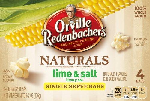 Orville Redenbacher Natural Lime & Salt Popcorn Mini Bags, 4 Ct, [Pack Of 3]