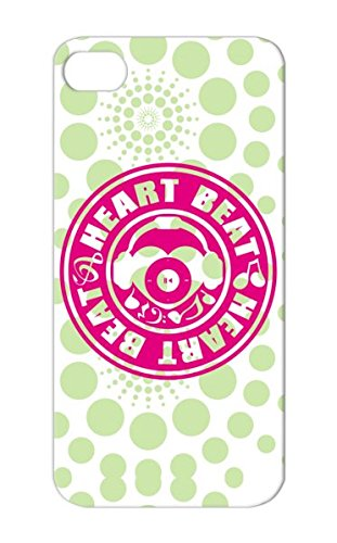 Dustproof Heart Beat Icon Music Sound Miscellaneous Heart Music Pop Headphones Design Cover Case For Iphone 5/5S Tpu Pink