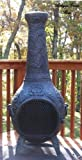 Propane-Chiminea-Blue-Rooster-ALCH012GK-AG-LPG-Rose-Style-Gas-Chiminea-Outdoor-Fireplace-Antique-Green