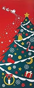 ヤマコー 四季彩布 てぬぐい クリスマス 87557