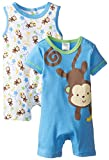 BabyGear Baby-Boys Newborn Monkey 2 Piece Romper Set