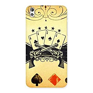 Stylish Guns And Cards Back Case Cover for HTC Desire 816g