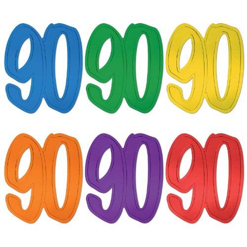 90 Foil Silhouettes (asstd colors) Party Accessory  (1 count) - 1