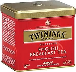 Twinings English Breakfast Tea, Loose Tea, 7.05-Ounce  Tins (Pack of 6)