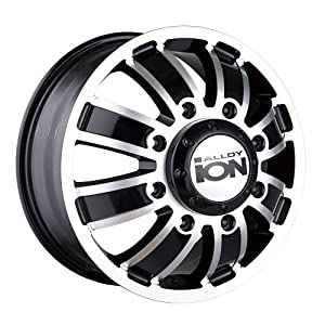 Ion Alloy Dually 166 Matte Black Wheel with Machined Face (16x6