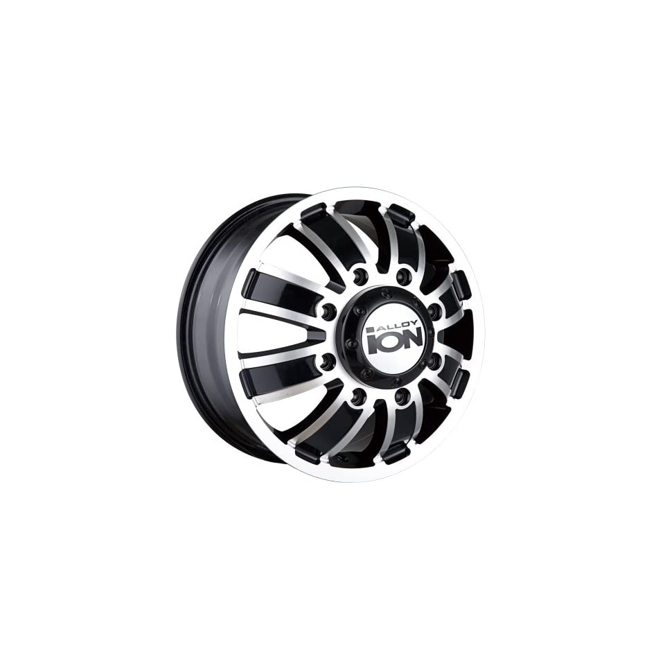 Ion Alloy Dually 166 Matte Black Wheel with Machined Face (17x6.5/8x210mm)