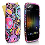 Jellyfish Silicone Gel Patterned Case Cover For The Samsung Galaxy Nexus i9250 With Screen Protector Film Red Black Pink Yellow Multi Colouredby Yousave