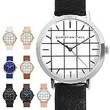CHRISTIAN PAUL クリスチャンポール ユニセックス ボーイズ GR 43mm Grid Collection 腕時計 グリッド 格子柄 レザーバンド カラー8色 GR-02/Bridport / [並行輸入品]