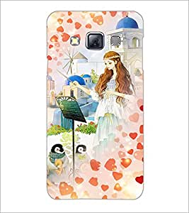 PrintDhaba Princess and Friends D-2886 Back Case Cover for SAMSUNG GALAXY A3 (Multi-Coloured)