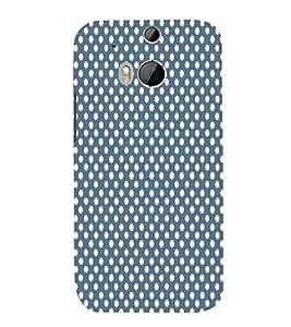 Dark Blue Royal Dots 3D Hard Polycarbonate Designer Back Case Cover for HTC One M8 :: HTC M8 :: HTC One M 8