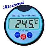 Kiserena Digital Food Thermometer with High Resolution LCD Display- Premium Electronic Instant Read Professional...