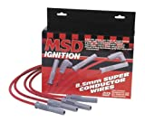 MSD   31223   Spark Plug Wire Set - 8.5 MM - Super Conductor - Universal - Two-in-One - 8 Cyl - 90 degree boots and terminals plug / HEI cap - Black