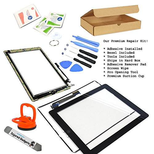 Black Touch Screen Glass Digitizer Assembly With Spare Parts (Home Button, Flex Cable, Camera Bracket, Adhesive) For Ipad 4 4Th Gen 4G