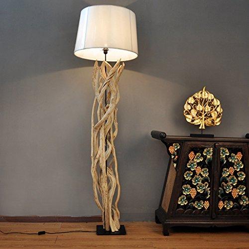 Sud-est asiatico di stile, salotto lampada da terra stanza, illuminazione hotel in legno, luci gabbia camera, 56 * 190CM