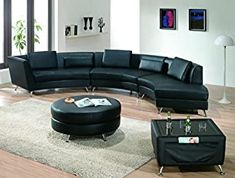 Amazoncom modern line furniture 8004b g8 contemporary for Curved sectional sofa amazon