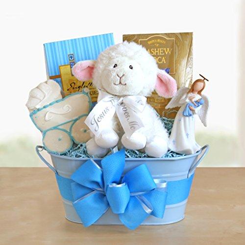 Boy Christening Blessings Gift Basket front-319453