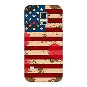 Stylish Grunge USA Flag Multicolor Back Case Cover for Galaxy S5 Mini