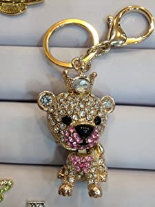 Lion King Keychain Purse Charm Austrian Crystals