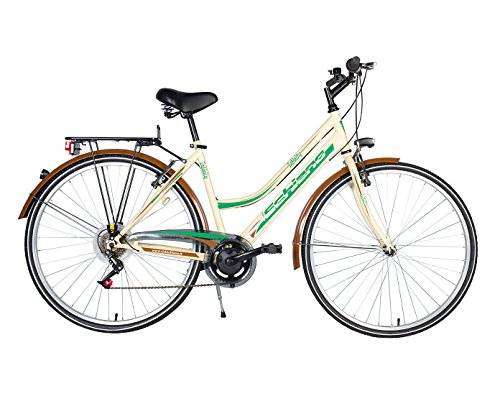 F.lli Schiano Trekking Infinity Cambio Power Bicicletta Donna, Beige/Marrone, 28