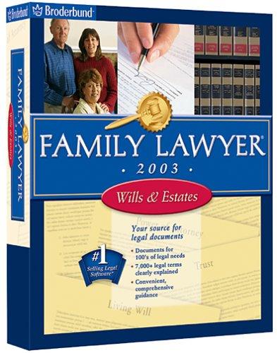 Family Lawyer 2003 Wills  EstatesB00006WNMI