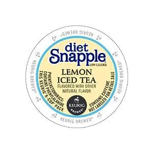 Snapple Diet Lemon Iced Tea, Keurig K-Cups, 72 Count