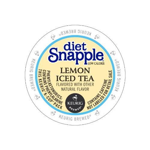 Keurig, Snapple, Diet Lemon Iced Tea, K-Cup Packs, 72 Count front-582290