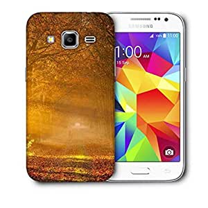Snoogg Dense Yellow Forest Printed Protective Phone Back Case Cover For Samsung Galaxy Core Plus G3500
