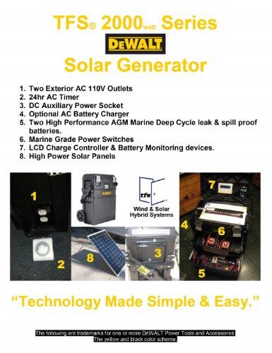 Tfs (Tm) 2000 Series Dewalt Solar Generator