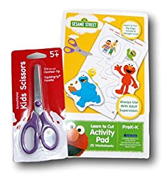 Pre-K Learn To Cut Supply Set - Sesame Street Activity Pad & Scissors