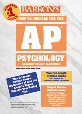 How to Prepare for the Ap Psychology: Advanced Placement Examination (Barron's How to Prepare for the Ap Psychology  Advanced Placement Examination)