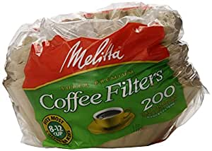 melitta basket coffee filters natural brown 8 to 12 cup 200 count filters pack of 8. Black Bedroom Furniture Sets. Home Design Ideas