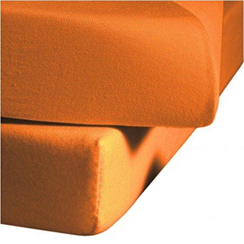 Fleuresse Mako-Satin-Spannlaken colours orange 2044 Größe 100 x 200 cm thumbnail