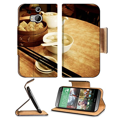 Dessert Rice Ball Steam Buns Teapot Htc One M8 Flip Case Stand Magnetic Cover Open Ports Customized Made To Order Support Ready Premium Deluxe Pu Leather 6 4/16 Inch (158Mm) X 3 4/16 Inch (82Mm) X 9/16 Inch (14Mm) Luxlady Htc1 Cover Professional M 8 Cases front-601117