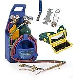 ARKSEN© Professional Torch Kit, Oxygen & Acetylene Oxy w/ Tank, Victor-Type, Blue