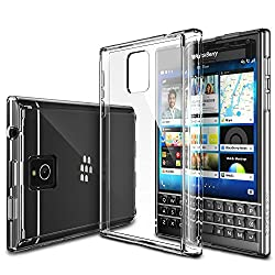 Rearth Ringke FUSION Series Passport Case [FREE Screen Protector/Drop Protection][CRYSTAL VIEW] Shock Absorption Bumper Premium Hard Case for Blackberry Passport - Eco/DIY Package