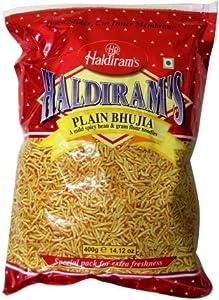 Haldiram's Plain Bhujia Mild Spicy & Gram Flour Noodles 400 Gm