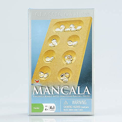 Mancala Premier Edition ~ Finished Board with Gemstone Playing Pieces - 1