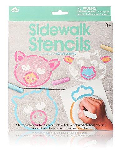 NPW Sidewalk Chalk Face Stencils - 1
