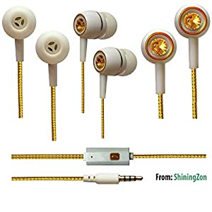 3.5mm In Ear Earbud Stereo Headset Handsfree Headphone Earphone with Mic For Gionee Elife S7 - WhiteDiamond